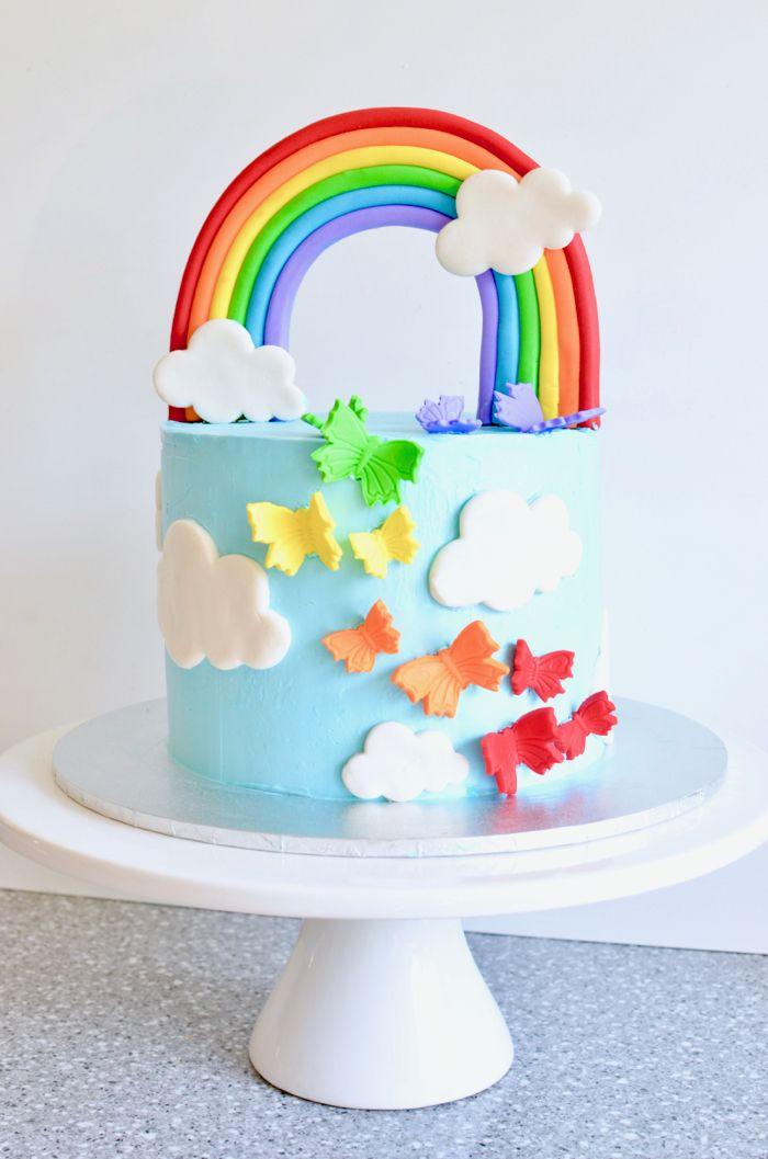 Dieser Kuchen ist super süß für eine Regenbogenparty! Dies ist der perfekte Kuchen für einen Bettler …   – Nora's 5th birthday