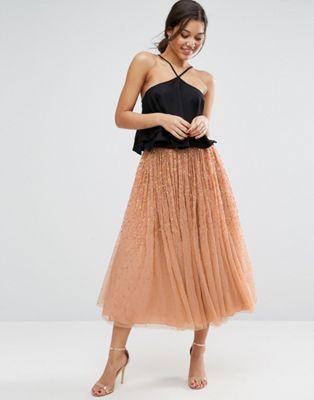 ASOS | Falda de graduación de tul con adornos de ASOS