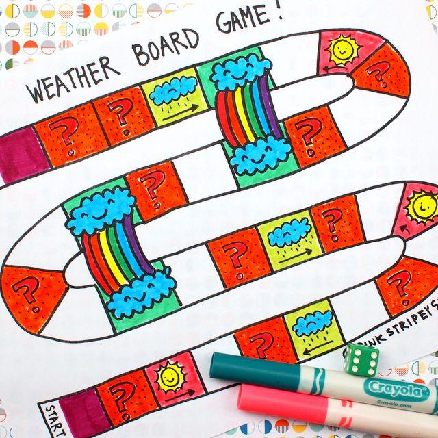 Printable Weather Board Game Mehr