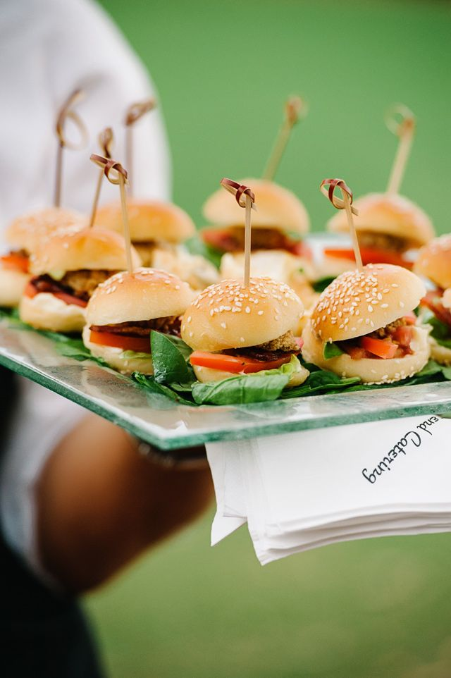 Mini burgers - yes please! Catering by Townsend Catering, photo by dearwesleyann.com