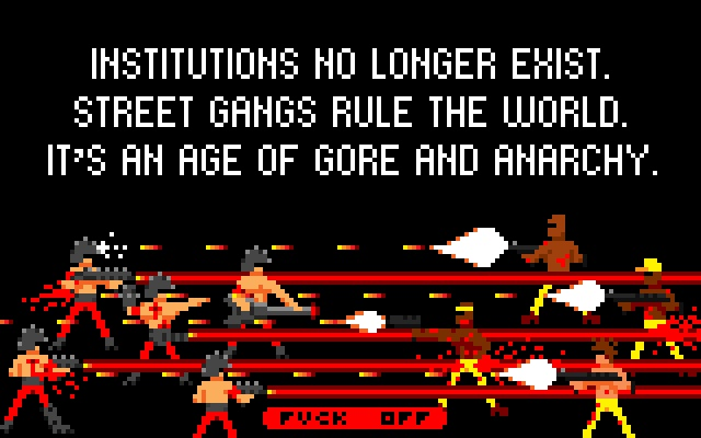 Scene from the intro cutscene of Tumba Games' Brutal Battle.