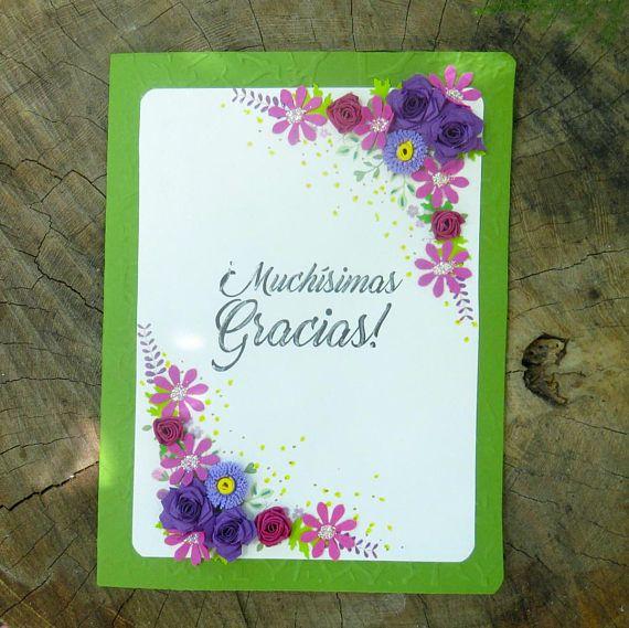 Tarjeta de agradecimiento oliva Morado  Eventos especiales