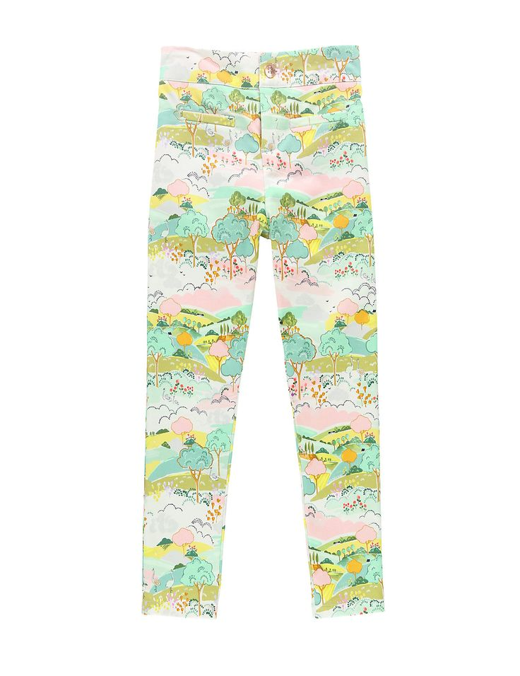 M&S from £14 Louise Wilkinson Cotton Rich Scenery Print Trousers (1-7 Years)