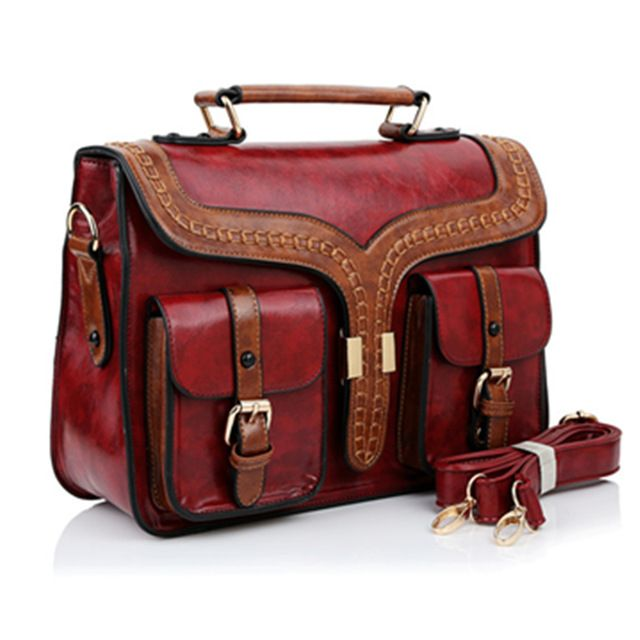 Special offer High Quality PU Leather British Style Vintage Briefcase Bag Ladies Shoulder Bags Retro Women Postman Bag Mori Girl Handbags just only $41.82 with free shipping worldwide  #womantophandlebags Plese click on picture to see our special price for you