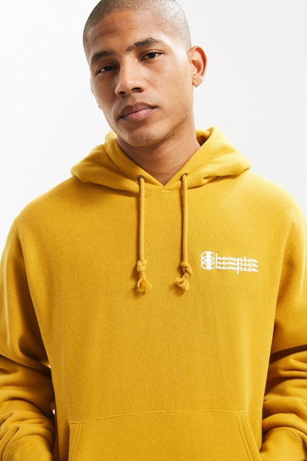 034ff67fe514 Slide View  1  Champion UO Exclusive Triple Script Reverse Weave Hoodie  Sweatshirt