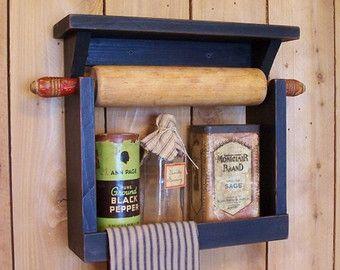 Multiple Rolling Pin Rack Wooden Rolling Pin Shelf by Sawdusty