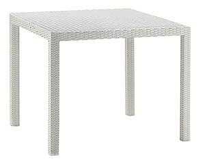Tavolo quadrato in alluminio e polietilene Marta bianco - 90x90x75 cm