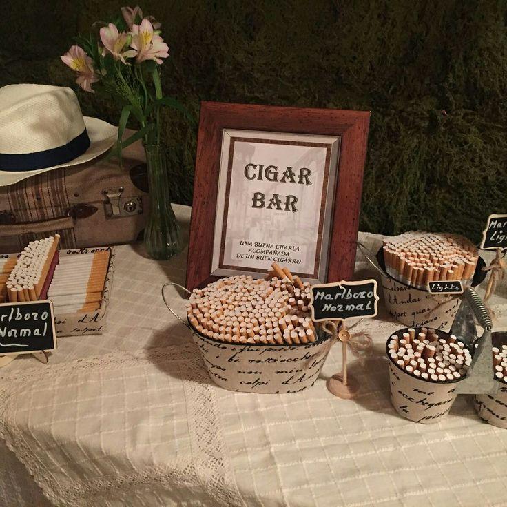Cigar bar de una de nuestras bodas, la verdad quedaron encantados.#Cigar bar#boda#tabaco#puros#