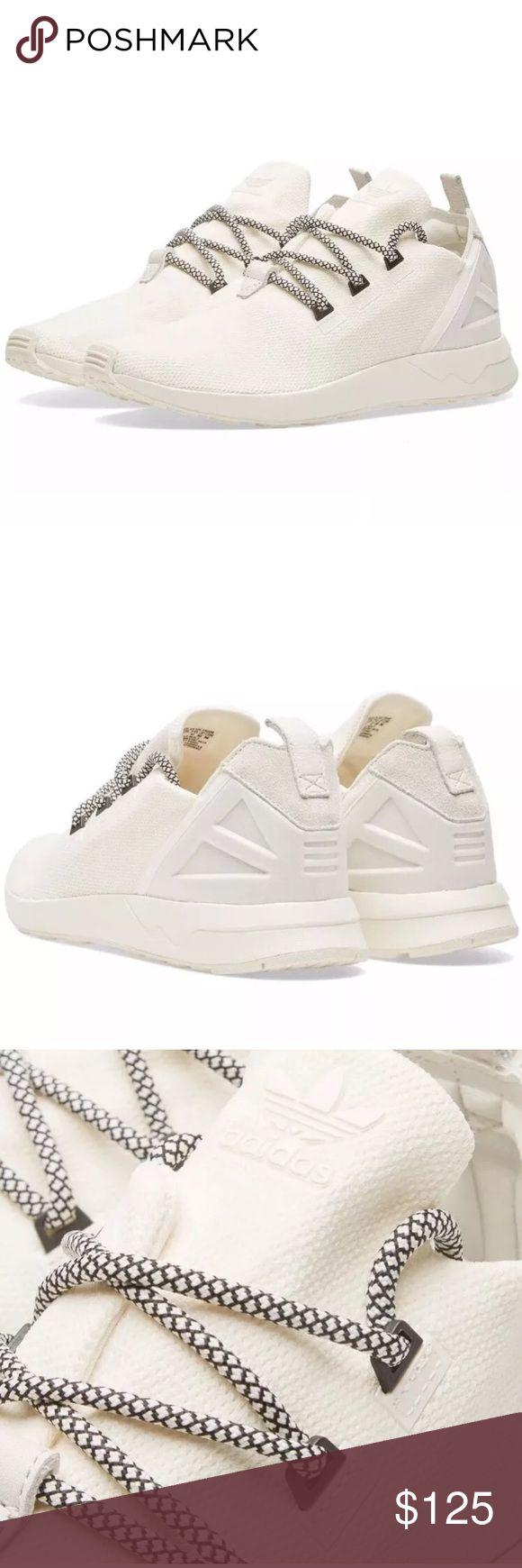 Adidas Original Men's ZX Flux ADV X Shoes Sz 11.5 Adidas Original Men's ZX Flux ADV X Shoes Size 11.5 B49403 Off-White   Brand : adidas   Style Code : B49403   Color : Off White   Size : US Men's 11.5   A modern and minimalist style is updated with the next stop in the ZX evolution.   Stretch Mesh Uppers   Advanced Tongue Construction   Elastane Lining   Injected EVA Midsole   Moulded Heel Cage   Rubber Outsole   BRAND NEW. NO BOX. NEVER WORN OR TRIED ON.   100% AUTHENTIC Adidas Shoes…