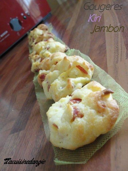 Gougères au kiri & jambon