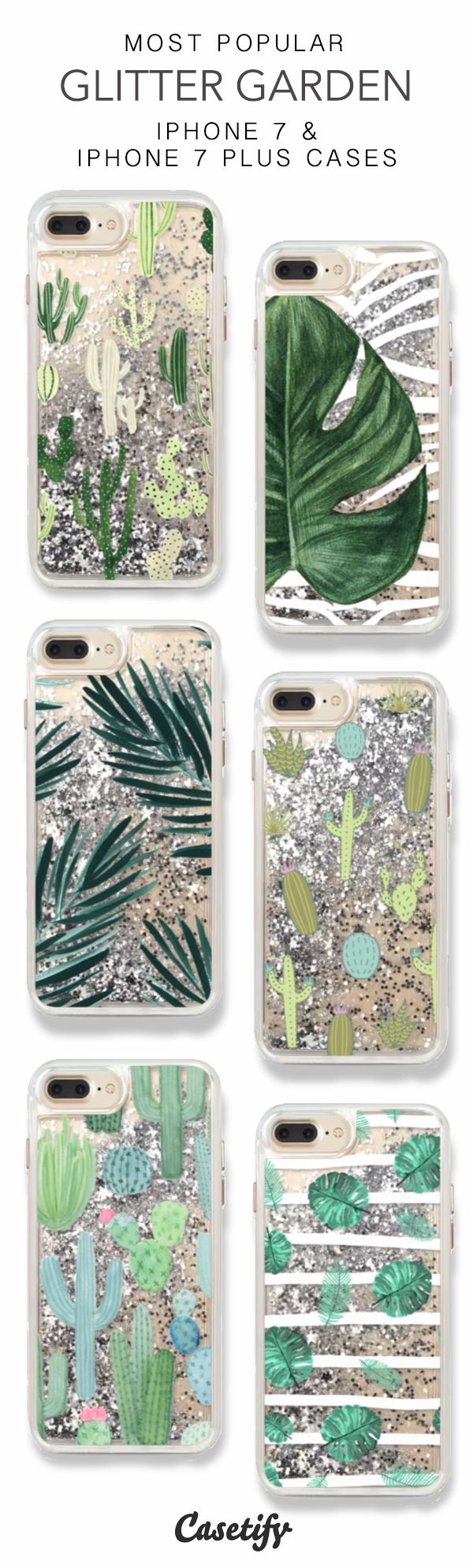 Most Popular Glitter Garden iPhone 7 Cases & iPhone 7 Plus Cases here > https://www.casetify.com/collections/iphone-7-glitter-cases#/ http://amzn.to/2spd3Ru
