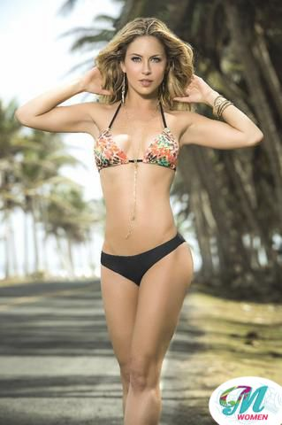 MAPALE/Swimwear black and print