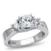 PassionStone Couture, 18K White Gold Diamond Semi-Mount, 1/2 ctw.
