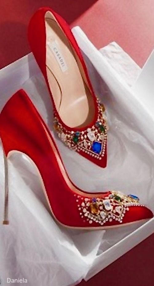 Absolutely gorgeous Red Jewelled heels.