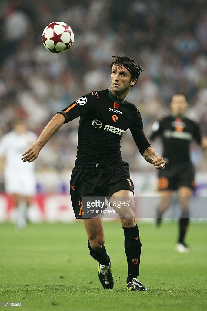 Christian Panucci of Roma in action during the UEFA Champions League Group B match between Real Madrid and Roma at the Santiago Bernabeu Stadium on September 28, 2004 in Madrid, Spain.