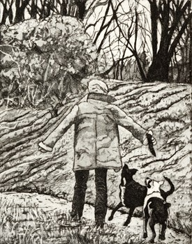 Fetch - Kevin Foley Etching and Aquatint 2011 $340.00 Available at www.cascadeprintroom.com.au