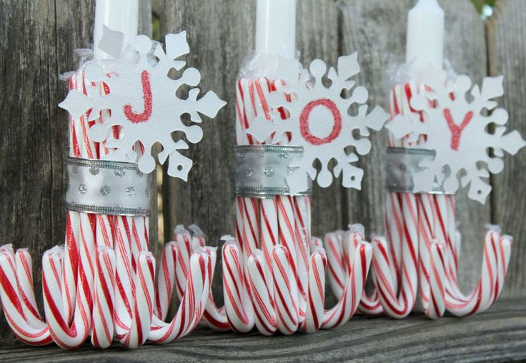 Diy candy cane candle holder christmas pinterest for Candy cane holder candle centerpiece