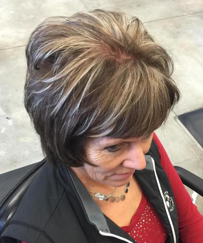 layered hair styles for 25 beautiful brown with grey highlights ideas on 4112
