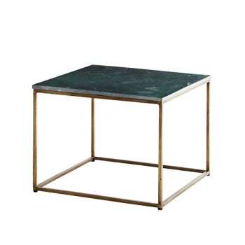 Bord med grön marmorskiva.