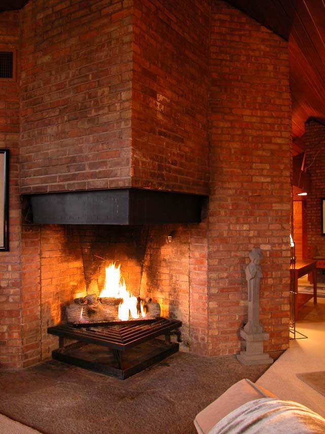 Wood Fireplace Screen