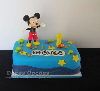 Doces Opções: Bolo de aniversário Disney Mickey Mouse