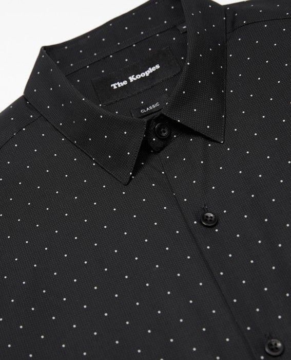 Micro polka dot shirt
