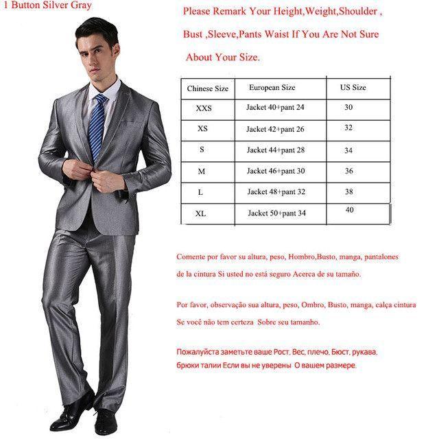 (Jackets+Pants) 2016 New Men Suits