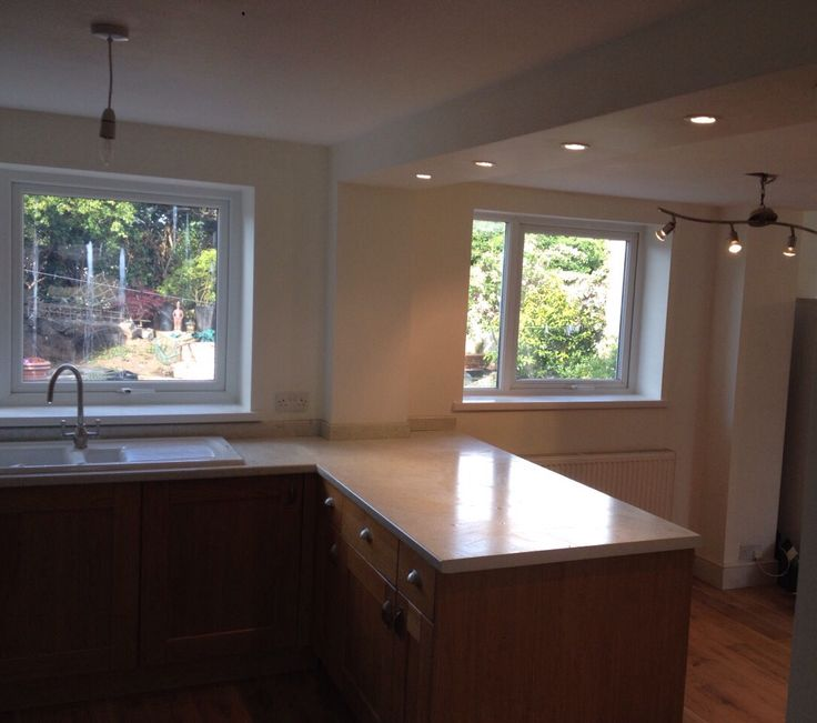 Fitted kitchen & re plaster