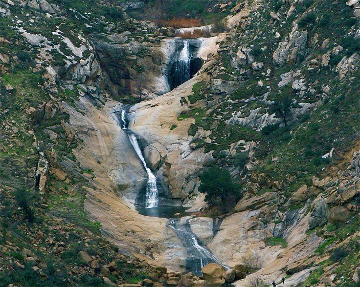 Top Ten Hikes In San Diego - Cowles Mtn (3mi), Torrey Pines State Pk (5.6mi), El Cajon Mtn Trail in Lakeside (12mi), Iron Mtn. Poway (5.8mi), Mt. Woodson Poway (6.4mi), Los Penasquitos Canyon Preserve (4.7mi), Cedar Creek Falls Ramona (4.5mi), Three Sisters Falls Julian (4mi), Cuyamaca Rancho St. Park Descanso (>100 mi of trails), Stonewall Peak Descanso (4mi),