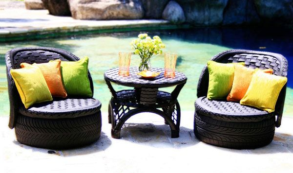61 best images about tyre recycle ideas on pinterest for Tyre furniture