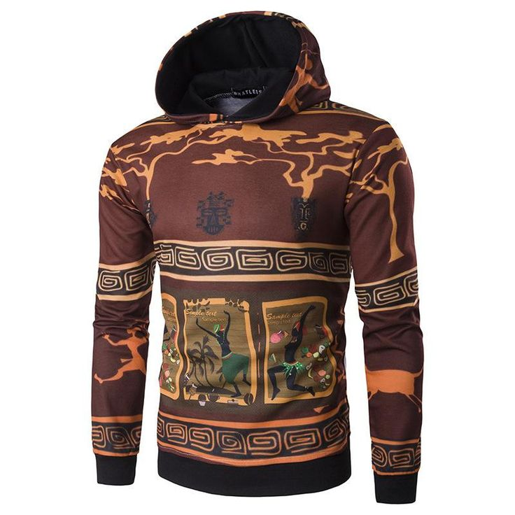 African Attire for Men Totem Hoodie