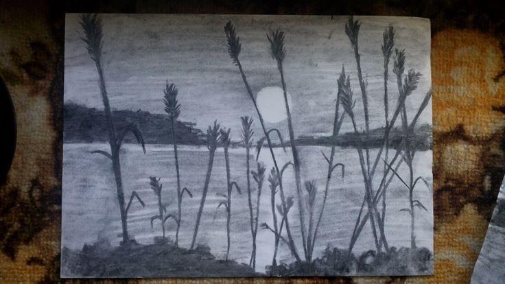 sun set / nature / Drawing