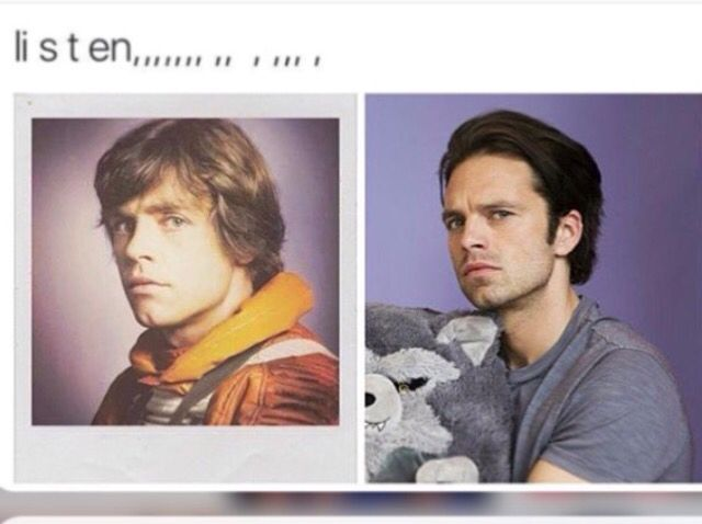 Mark and Seb Seb really needs to get cast as a younger Luke Skywalker for the in between years story you know they're plotting lol