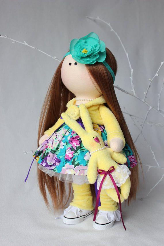 Interior doll Cloth doll Art doll handmade por AnnKirillartPlace