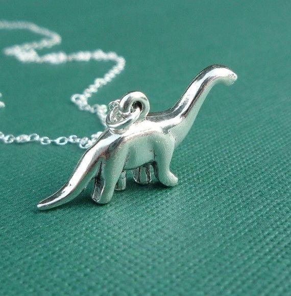 love dinos :): Dino Necklaces, Extinct Animal, Dinosaurs Necklaces, Dinosaurs Things, Accessories, Necklaces Gift, Brontosaurus Dinosaurs, Sterling Brontosaurus, Brontosaurus Necklaces