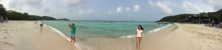 Panoramic coral island in pattaya thailand