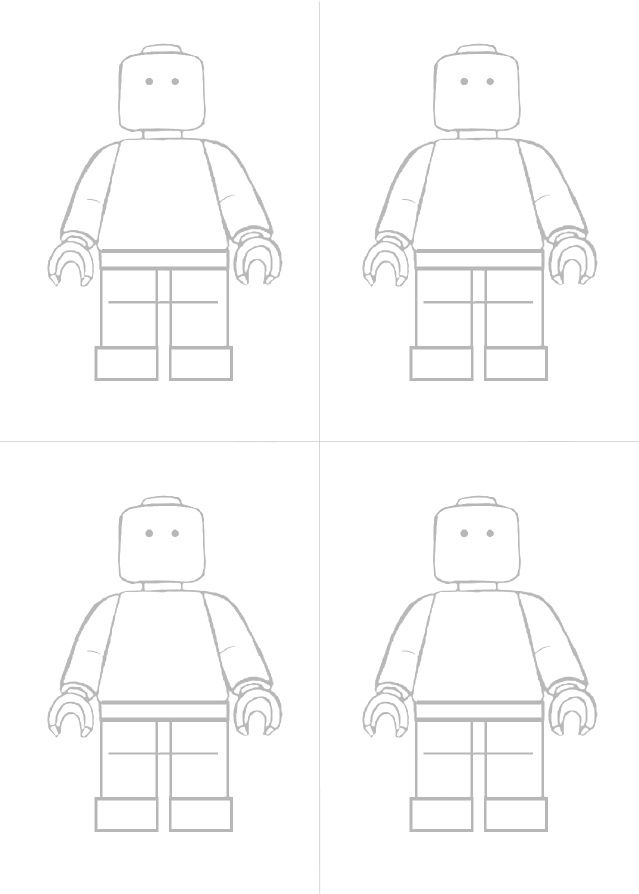 It's just a photo of Astounding Lego Minifigure Printable