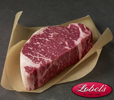 USDA Prime Dry-Aged Boneless Strip Steak - Buy online at Lobel's