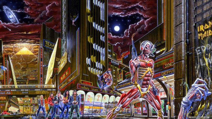 Iron Maiden: The secrets of the Somewhere In Time album artwork revealed  ||  Iron Maiden's 1986 album cover explained in detail http://teamrock.com/feature/2016-09-29/iron-maiden-somewhere-in-time-artwork-details?utm_campaign=crowdfire&utm_content=crowdfire&utm_medium=social&utm_source=pinterest