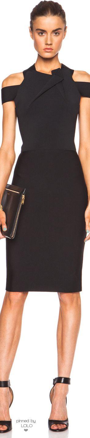 ROLAND MOURET SWANGROVE VISCOSE-BLEND DRESS |  LOLO❤