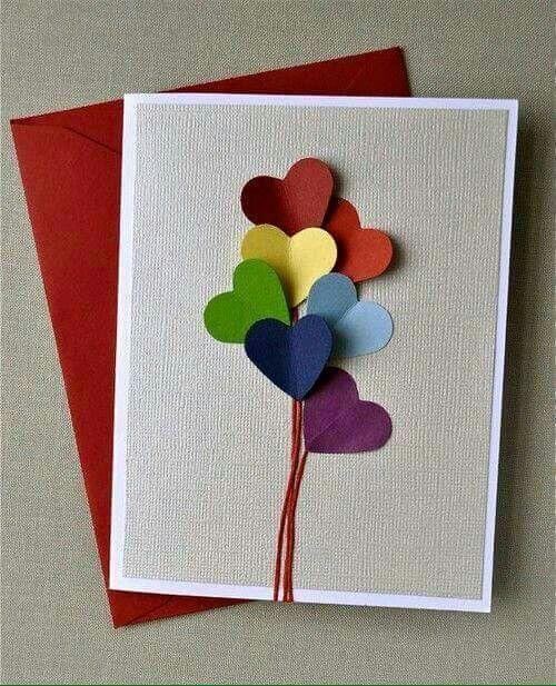 Postales hechas a mano para  este San Valentin