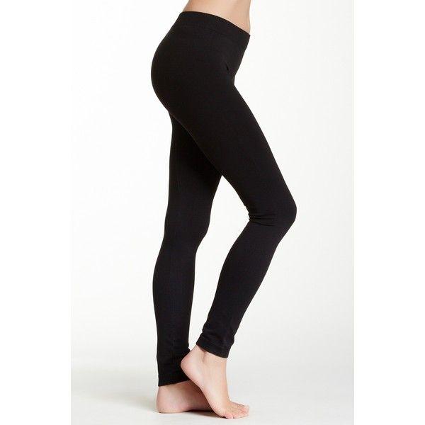 NikiBiki Solid Thick Legging (33 BGN) ❤ liked on Polyvore featuring pants, leggings, black, elastic waist pants, thick leggings, knit leggings, thick legging pants and knit pants
