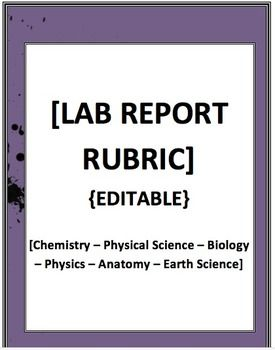 HIGHLY-detailed yet easy-to-use rubric makes grading high school lab reports both thorough and clear. Students won't have to guess where their scores come from, and neither will you!  1) Intro (objective & abstract) 2) Materials/Procedures 3) Data 4) Calculations 5) Conclusions