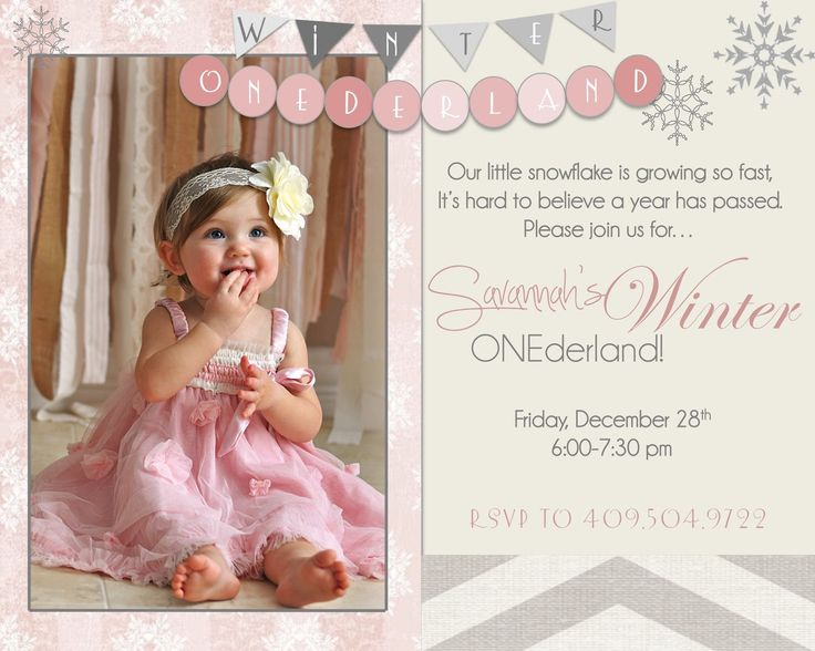 the crossleys savannahs winter onederland girls first bday party - Winter Onederland Party Invitations
