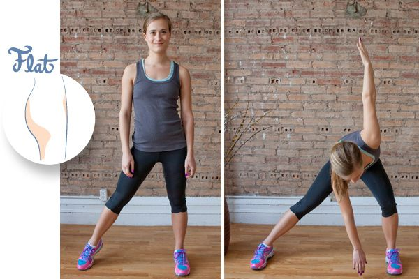 flat butt exercise - go to website to exercises for other butt types too!