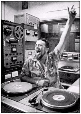 The wonderful innovative WOLFMAN JACK Absolute Genius. Never been bettered. Tribute is attached on separate pin
