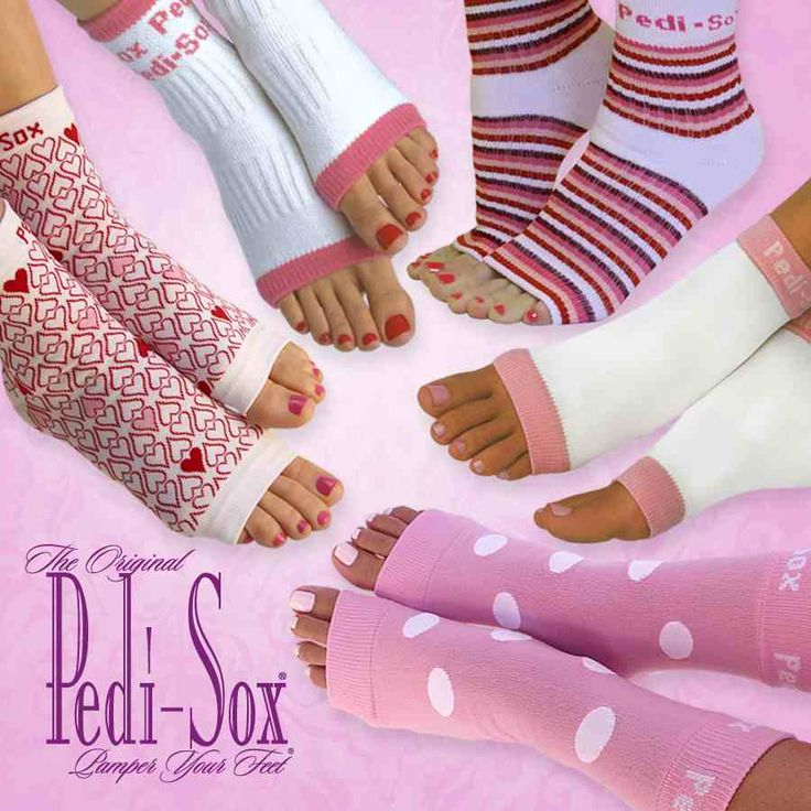 Keep freshly pedicured feet comfy, cozy & clean !  Toenails dry flawlessly.   Softer & smoother skin & heels too.   www.OriginalPediSox.com