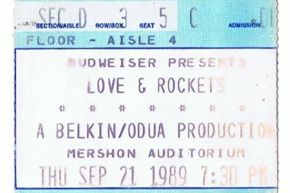 Love & Rockets, The Pixies,    9/21/89    Mershon Auditorium, OSU Campus, Columbus, OH
