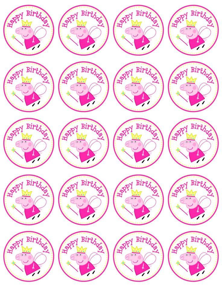 Etiquetas descargar Peppa Pig Favor por AnnaMarieDesign en Etsy