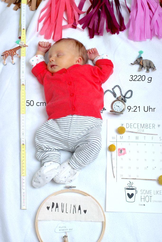 Schöne, individuelle Idee für Geburtsankündigungen. Simple idea for birth announcements